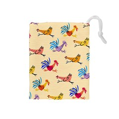 Chicken Drawstring Pouches (medium)  by AnjaniArt