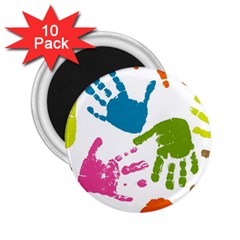 Hand 2 25  Magnets (10 Pack)  by AnjaniArt