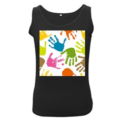 Hand Women s Black Tank Top by AnjaniArt
