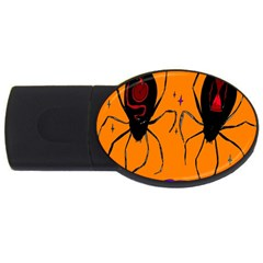 Happy Hellpween Spider Usb Flash Drive Oval (2 Gb)  by AnjaniArt