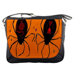 Happy Hellpween Spider Messenger Bags by AnjaniArt
