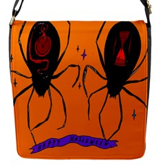 Happy Hellpween Spider Flap Messenger Bag (s) by AnjaniArt