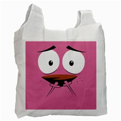 Funny Face Recycle Bag (one Side) by AnjaniArt