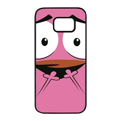 Funny Face Samsung Galaxy S7 Edge Black Seamless Case by AnjaniArt