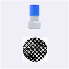 CIR2 BK-BR MARBLE Rubber Round Stamps (Small) by trendistuff