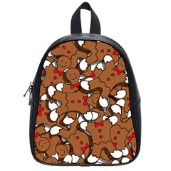 Christmas Candy Seamless Pattern Vectors School Bags (small)  by Onesevenart