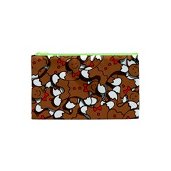 Christmas Candy Seamless Pattern Vectors Cosmetic Bag (xs) by Onesevenart