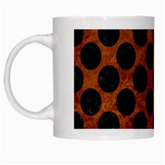 Circles2 Black Marble & Brown Marble (r) White Mug by trendistuff