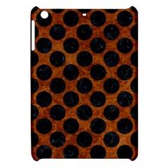 Circles2 Black Marble & Brown Marble (r) Apple Ipad Mini Hardshell Case by trendistuff