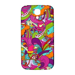 Christmas Elements With Doodle Seamless Pattern Vector Samsung Galaxy S4 I9500/i9505  Hardshell Back Case by Onesevenart