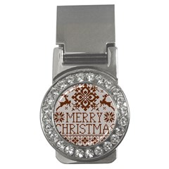 Christmas Elements With Knitted Pattern Vector Money Clips (cz)  by Onesevenart