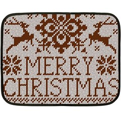 Christmas Elements With Knitted Pattern Vector Fleece Blanket (mini) by Onesevenart