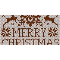 Christmas Elements With Knitted Pattern Vector You Are Invited 3d Greeting Card (8x4)