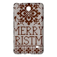 Christmas Elements With Knitted Pattern Vector Samsung Galaxy Tab 4 (8 ) Hardshell Case  by Onesevenart