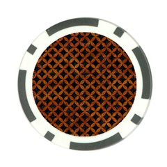 Circles3 Black Marble & Brown Marble Poker Chip Card Guard by trendistuff