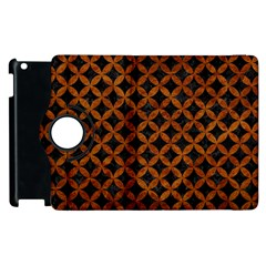 Circles3 Black Marble & Brown Marble Apple Ipad 2 Flip 360 Case by trendistuff