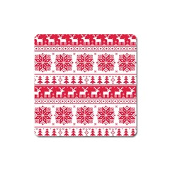 Christmas Patterns Square Magnet by Onesevenart