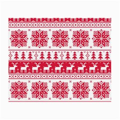 Christmas Patterns Small Glasses Cloth by Onesevenart