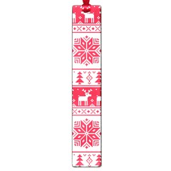 Christmas Patterns Large Book Marks by Onesevenart