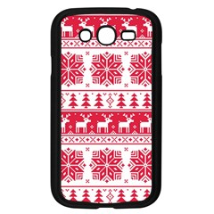 Christmas Patterns Samsung Galaxy Grand Duos I9082 Case (black) by Onesevenart