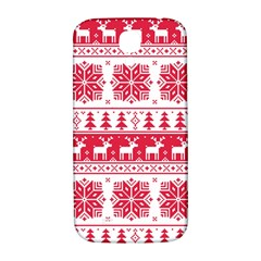 Christmas Patterns Samsung Galaxy S4 I9500/i9505  Hardshell Back Case by Onesevenart