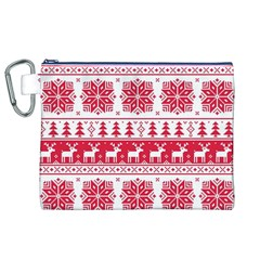 Christmas Patterns Canvas Cosmetic Bag (xl) by Onesevenart