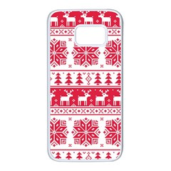 Christmas Patterns Samsung Galaxy S7 White Seamless Case