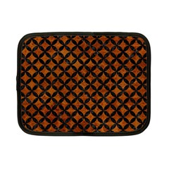 Circles3 Black Marble & Brown Marble (r) Netbook Case (small) by trendistuff