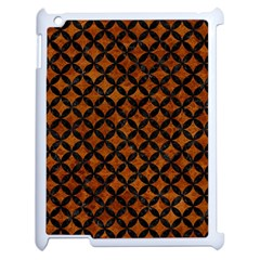 Circles3 Black Marble & Brown Marble (r) Apple Ipad 2 Case (white) by trendistuff