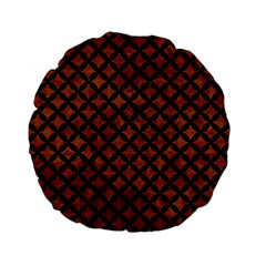 Circles3 Black Marble & Brown Marble (r) Standard 15  Premium Flano Round Cushion  by trendistuff