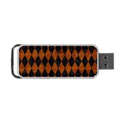 Diamond1 Black Marble & Brown Marble Portable Usb Flash (two Sides) by trendistuff