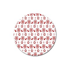 Christmas Pattern  Magnet 3  (round) by Onesevenart