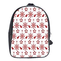 Christmas Pattern  School Bags (XL)  by Onesevenart