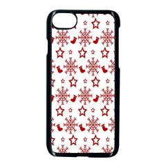Christmas Pattern  Apple Iphone 7 Seamless Case (black) by Onesevenart