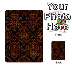 Damask1 Black Marble & Brown Marble Multi Purpose Cards (rectangle) by trendistuff