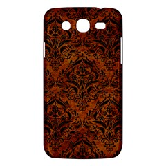 Damask1 Black Marble & Brown Marble (r) Samsung Galaxy Mega 5 8 I9152 Hardshell Case  by trendistuff