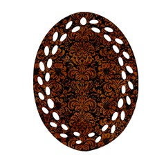 Dms2 Bk Br Marble Ornament (oval Filigree)  by trendistuff