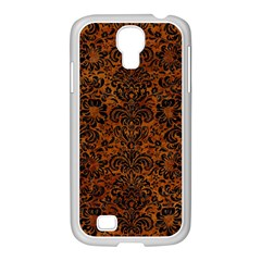 Damask2 Black Marble & Brown Marble (r) Samsung Galaxy S4 I9500/ I9505 Case (white) by trendistuff
