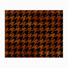 Houndstooth1 Black Marble & Brown Marble Small Glasses Cloth by trendistuff