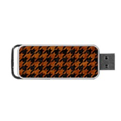 Houndstooth1 Black Marble & Brown Marble Portable Usb Flash (two Sides) by trendistuff