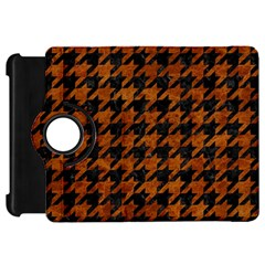 Houndstooth1 Black Marble & Brown Marble Kindle Fire Hd Flip 360 Case by trendistuff