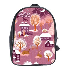 Cute Christmas Seamless Pattern School Bags (xl)  by Onesevenart
