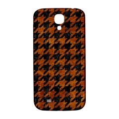 Houndstooth1 Black Marble & Brown Marble Samsung Galaxy S4 I9500/i9505  Hardshell Back Case by trendistuff