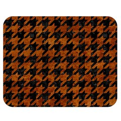 Houndstooth1 Black Marble & Brown Marble Double Sided Flano Blanket (medium) by trendistuff