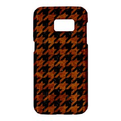 Houndstooth1 Black Marble & Brown Marble Samsung Galaxy S7 Hardshell Case