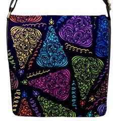 Christmas Patterns Flap Messenger Bag (s) by Onesevenart