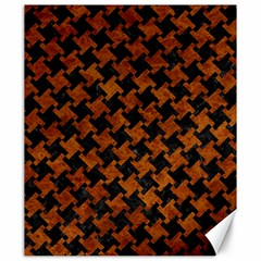 Houndstooth2 Black Marble & Brown Marble Canvas 20  X 24  by trendistuff