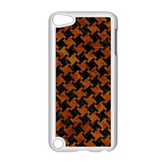 Houndstooth2 Black Marble & Brown Marble Apple Ipod Touch 5 Case (white)