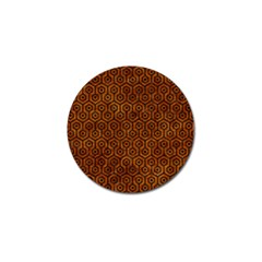 Hexagon1 Black Marble & Brown Marble (r) Golf Ball Marker (10 Pack) by trendistuff