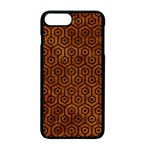 HEXAGON1 BLACK MARBLE & BROWN MARBLE (R) Apple iPhone 7 Plus Seamless Case (Black) Front